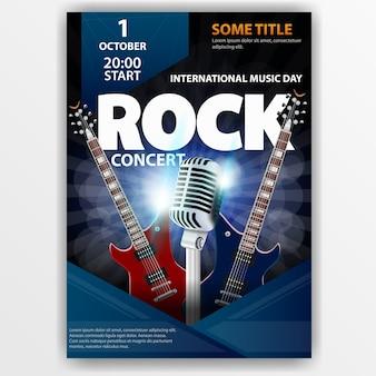 Plakat für ein rockkonzert