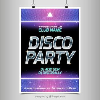 Plakat für eine party disco