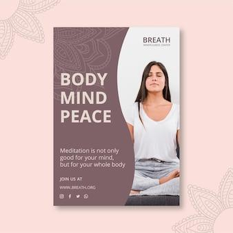 Plakat für meditation und achtsamkeit