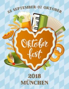 Plakat für oktoberfestfest.