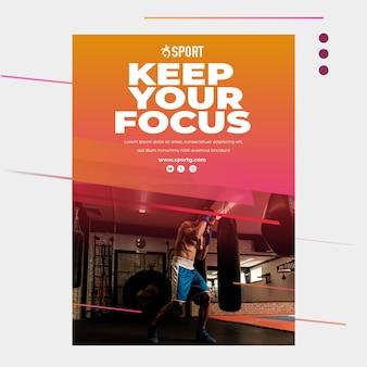 Plakat für sportliche aktivitäten