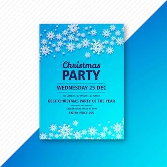 Plakat für weihnachtsfeier party vorlage