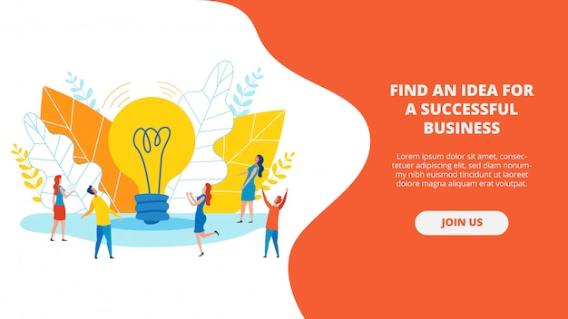 Plakat geschrieben eine idee für ein erfolgreiches geschäft.