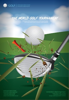 Plakat-Golf-Meisterschafts-Vektor-Illustration