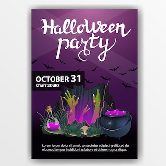 Plakat halloween-party