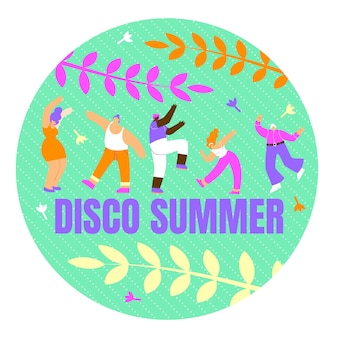 Plakat mit inschrift disco sommer