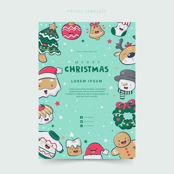 Plakat mit weihnachtselementen