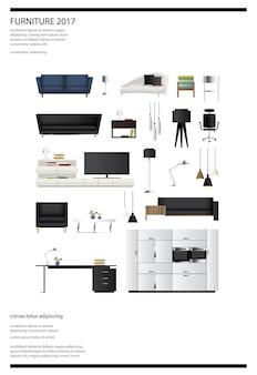 Plakat-möbel-verkaufs-vektor-illustration