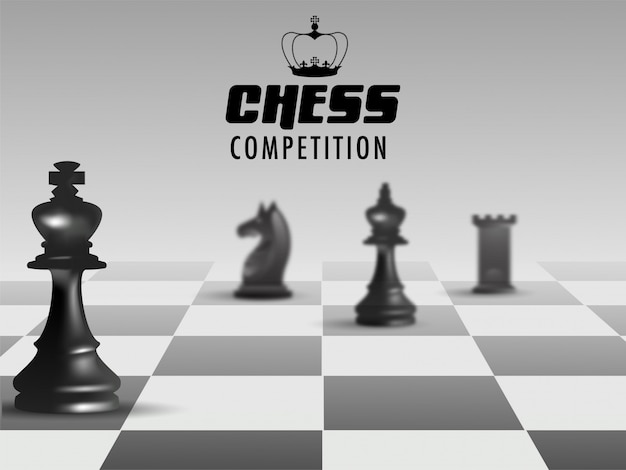 Plakat- oder fahnendesign für schach-wettbewerb.