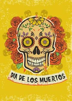 Plakat von dia de los muertos