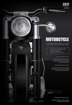 Plakat-zerhacker-motorrad lokalisierte vektor-illustration