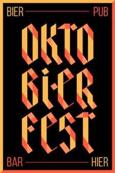 Plakat zum oktoberfest