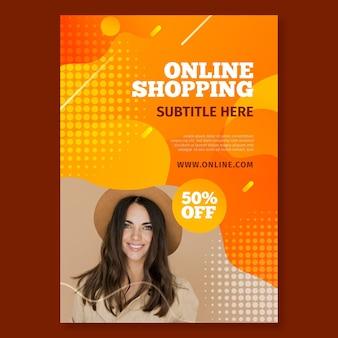 Plakat zum online-shopping