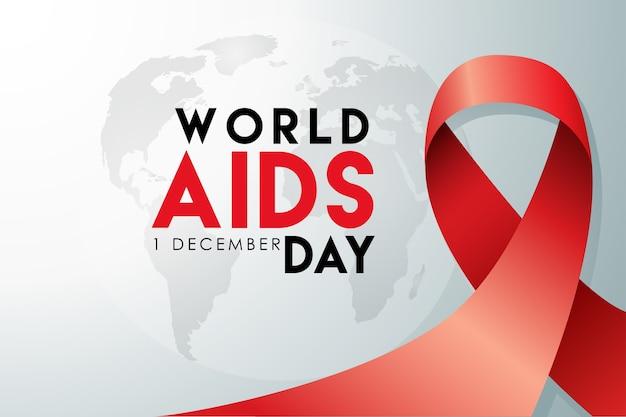 Plakat zum welt-aids-tag 1. dezember