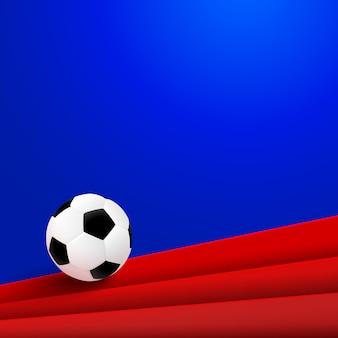Plakatdesign des fußballs 2018 mit fußball