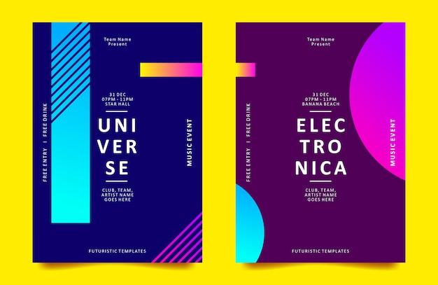 Plakatdesignschablone mit geometrischer form