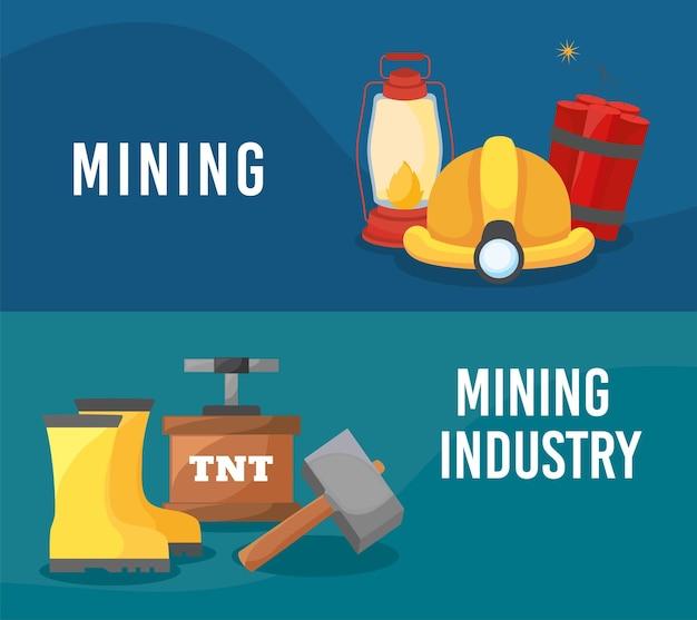 Plakate der bergbauindustrie