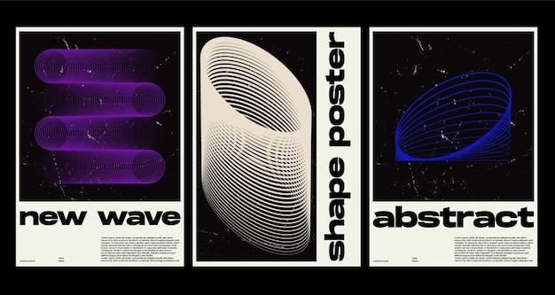 Plakatgestaltung im flachen design