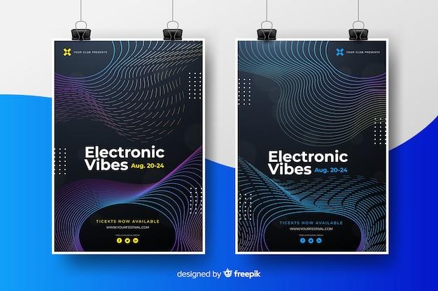 Plakatsammlung des festivals für elektronische musik