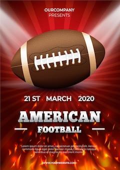 Plakatschablone des amerikanischen fußballs