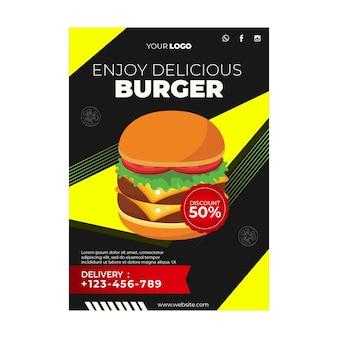 Plakatschablone für burger-restaurant