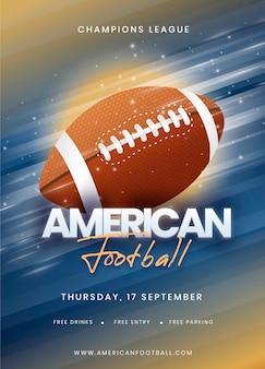 Plakatschablone für ereignis des amerikanischen fußballs