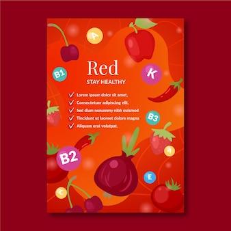 Plakatschablone für gesunde nahrungsmittelwerbung