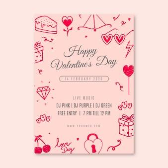 Plakatschablone für valentinstag