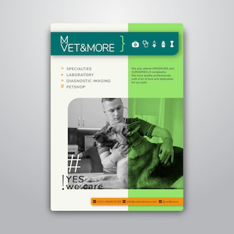 Plakatschablone für veterinärgeschäft