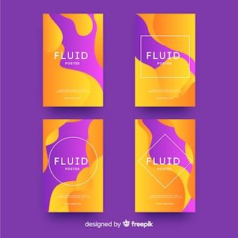 Plakatschablone mit flüssigen formen