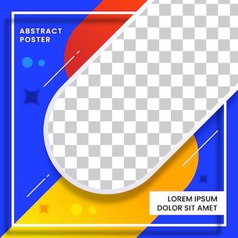 Plakatschablonenentwurf mit abstraktem entwurf