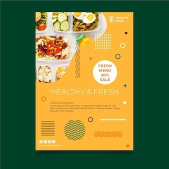 Plakatvorlage für bio und gesunde lebensmittel