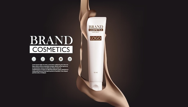 Plakatvorlage für kosmetikproduktanzeigen