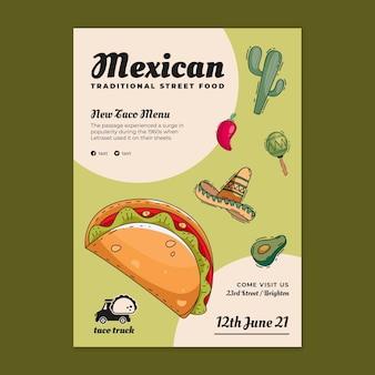 Plakatvorlage für mexikanisches essen