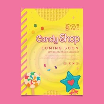 Plakatvorlage für süßwarenladen
