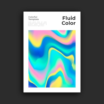 Plakatvorlage mit flüssiger wirkung