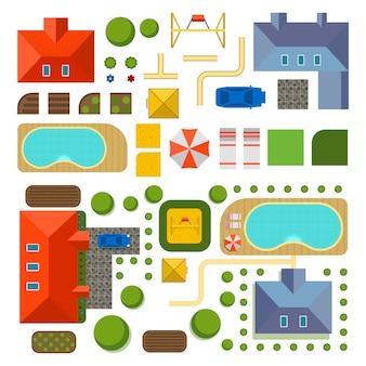 Plan des privathauses