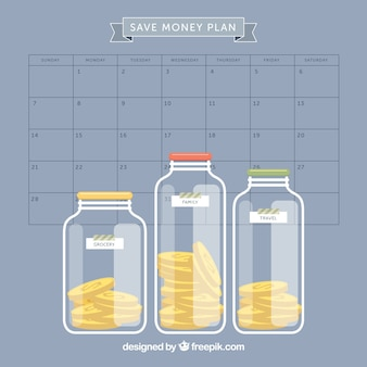 Planen, um geld zu sparen