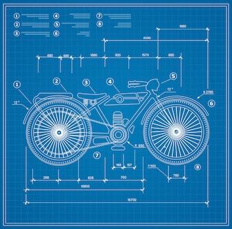 Planentwurfsentwurfsmotorrad des Motorrades.