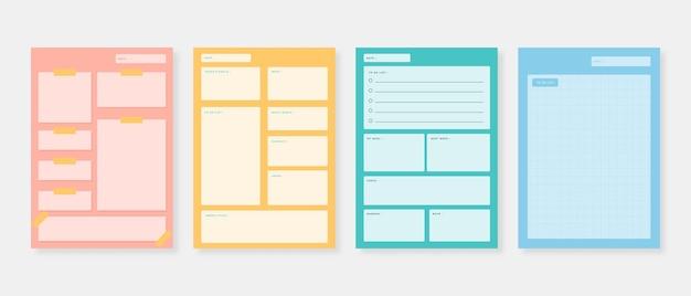 Planer-vorlagensatz. set aus planer und to-do-liste