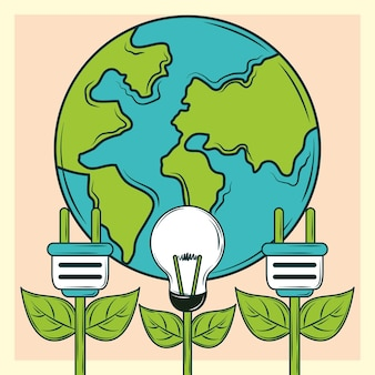 Planet der erneuerbaren energien