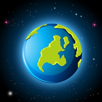 Planet erde im weltall