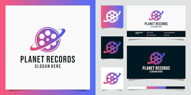 Planet records logo-konzept