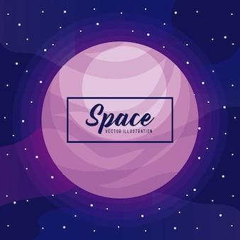 Planet space universum-symbol