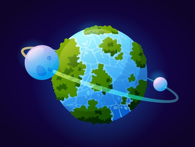 Planet wie erde fantasy-universum oder kosmos