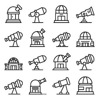 Planetarium icons set