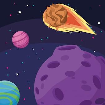 Planeten mond und asteroiden kosmos astronomie weltraumforschung