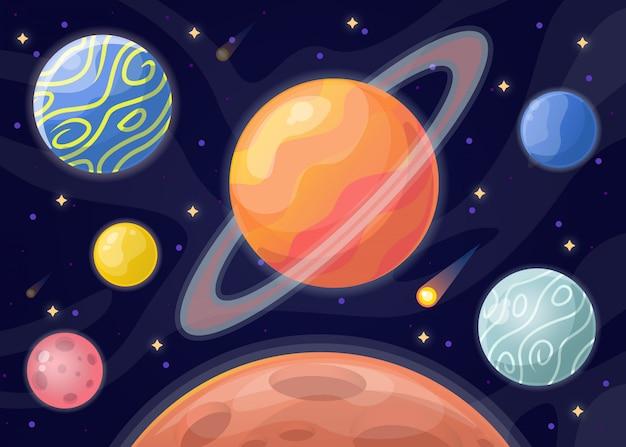 Planetenillustration