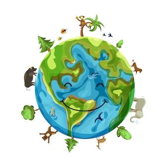 Planetenlächeln mit tieren