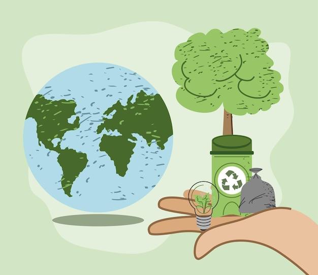 Planetenumwelt und recycling